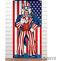 UNCLE SAM PHOTO DOOR BANNER by Fun Express [並行輸入品]