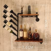 ワインラック/ハンギングレッドワインカップホルダー/吊り下げガラスホルダー/クリエイティブホームバー/ワインラックハンギングガラスホルダー (色 : B)
