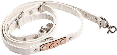 ルンカ 国産反射材使用・長さ調節3段階・シートベルト代わりにも多機能・犬用リード(~5キロまで) 白