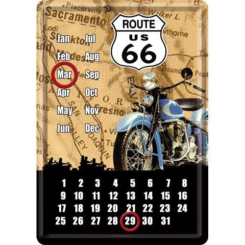 ルート66 Route 66 Map Kalender / カレンダー(ブリキ製)