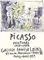 ピカソ–Galerie Louise Leirisヴィンテージポスター(アーティスト:ピカソ)フランスC。1957 12 x 18 Art Print LANT-74178-12x18