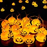 (YOUDEAR)ユーディア ハロウィン 飾りライト カボチャ イルミネーションライト 電池式 3M16LED 電飾 ストリングライト 黄色