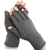Anthentina Arthritis Compression Gloves, Open Finger Gloves Relieve Pain from Rheumatoid, RSI, Carpal Tunnel, Hand Gloves Fingerless for Computer Typing and Dailywork.