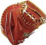ZETT(ゼット) 野球 軟式 キャッチャーミット プロステイタス 右投用 ボルド×オークブラウン(4036) BRCB30712