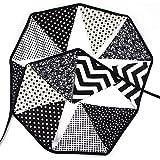 黒と白 フラッグガーランド 三角旗 バナー ガーランド クリスマスオーナメント パーテイ飾り 誕生日飾り 水洗う可能 結婚式ガーランド キャンプフラッグ コットン100% 3.2M