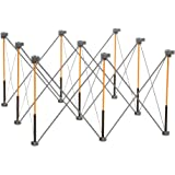Bora Centipede 4ft x 4ft 9-Strut Work Table, Includes 4 X-Cups, 4 Quick Clamps, Carry Bag, Portable Work Support Sawhorse, CK