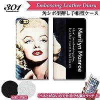 chatte noir iPhone11 ケース 手帳型 おしゃれ マリリンモンロー マリリン・モンロー Marilyn Monroe セクシー 海外 B シボ加工 高級PUレザー 手帳ケース ベルトなし