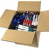 DG Collection (5lb Box Approx. 200-250 pens Assorted Misprint Retractable Ballpoint Pens Office Ink Pen Supplies Big Bulk Lot