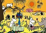 108ピース ジグソーパズル プリズムアートパズル ムーミン 動物達とのひと休み(18.2x25.7cm)