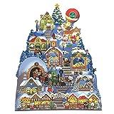 クリスマスカード 洋風 サンリオ S5324 立体ライト付きメロディカード サンリオクリスマスタウン