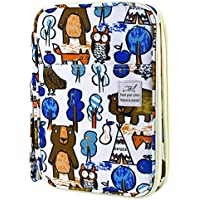 YOUSHARES 192 Slots Colored Pencil Case, Large Capacity Pencil Holder Pen Organizer Bag with Zipper for Prismacolor Watercolor Coloring Pencils, Gel Pens for Student & Artist (Animal Graffiti)