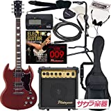 Photogenic フォトジェニック エレキギター エレキギター SGタイプ SGR-280/CH サクラ楽器オリジナル 初心者入門13点セット