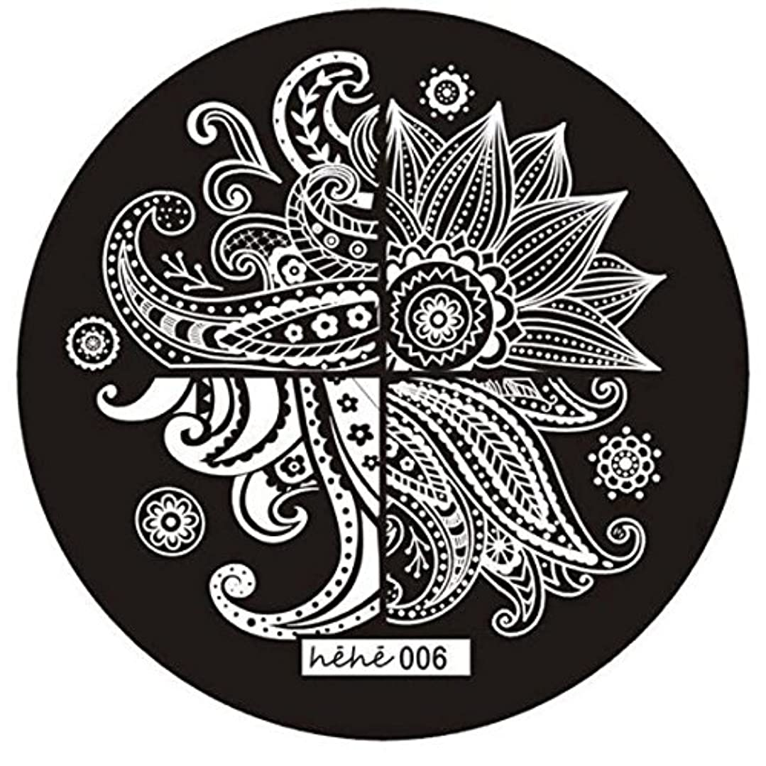 免疫遮る機密SODIAL 女の子のネイルアートパターンのイメージスタンプ プレートテンプレートマニキュア006