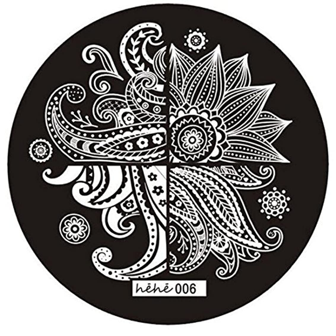 確立します暗くする遺跡ACAMPTAR 女の子のネイルアートパターンのイメージスタンプ プレートテンプレートマニキュア006