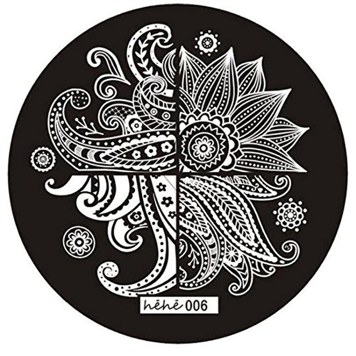 逆さまに派生する石膏RETYLY 女の子のネイルアートパターンのイメージスタンプ プレートテンプレートマニキュア006