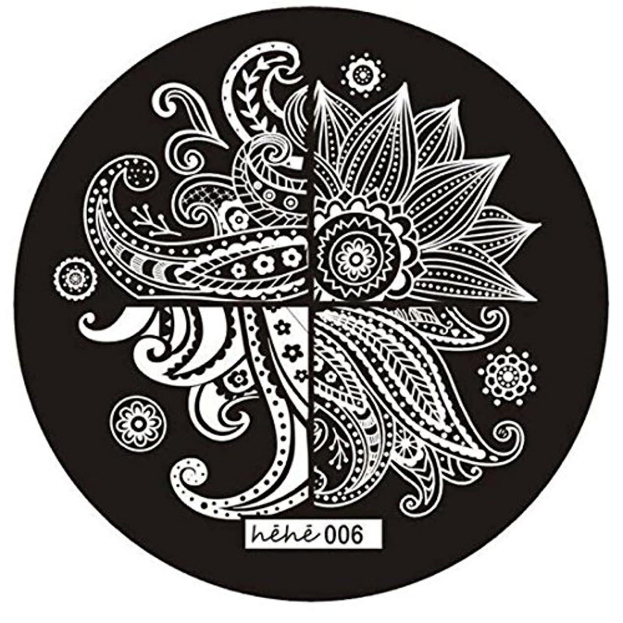 ウェイド不測の事態歪めるACAMPTAR 女の子のネイルアートパターンのイメージスタンプ プレートテンプレートマニキュア006