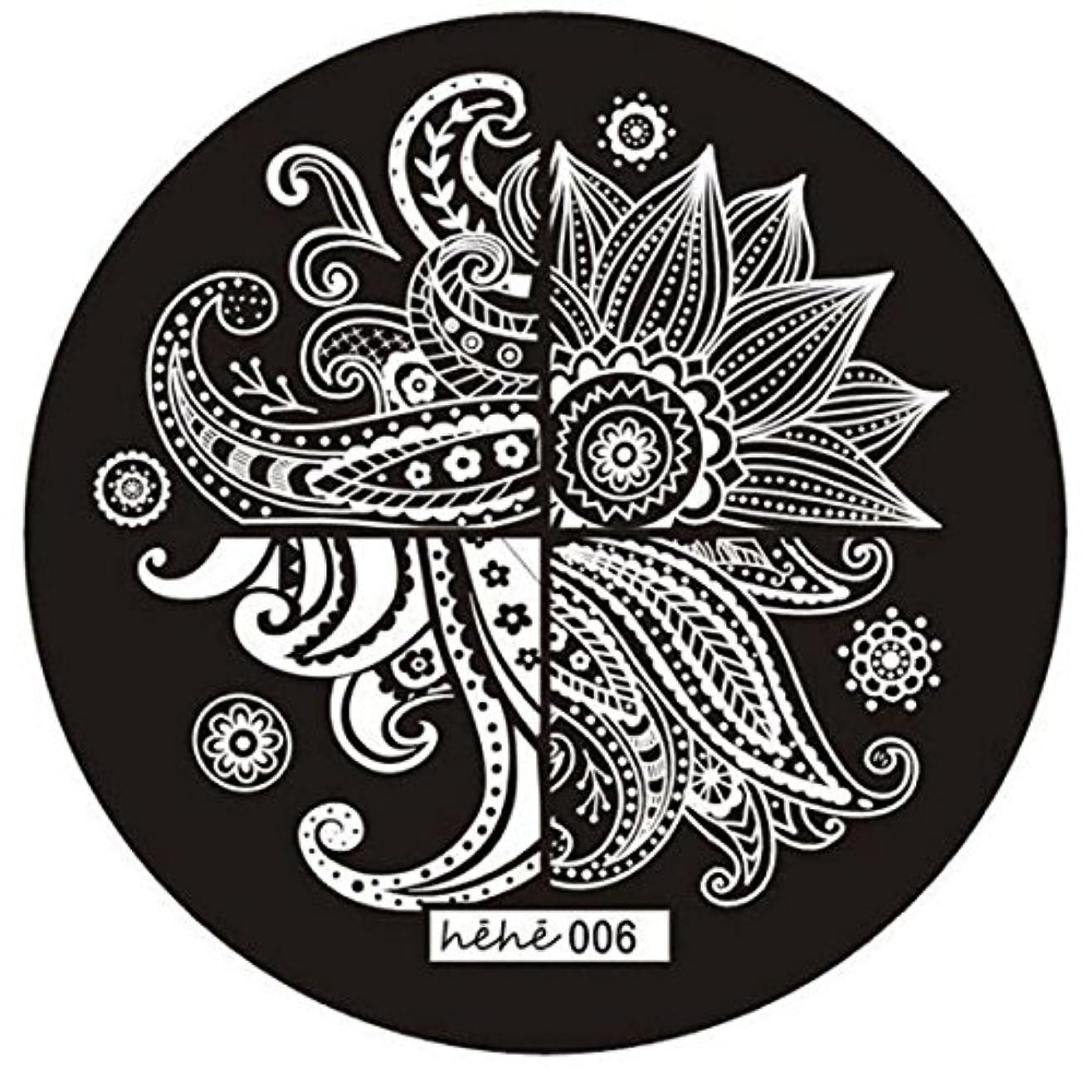わな鎮痛剤不規則なRETYLY 女の子のネイルアートパターンのイメージスタンプ プレートテンプレートマニキュア006