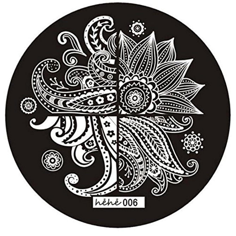 発掘する仕事に行く啓発するRETYLY 女の子のネイルアートパターンのイメージスタンプ プレートテンプレートマニキュア006
