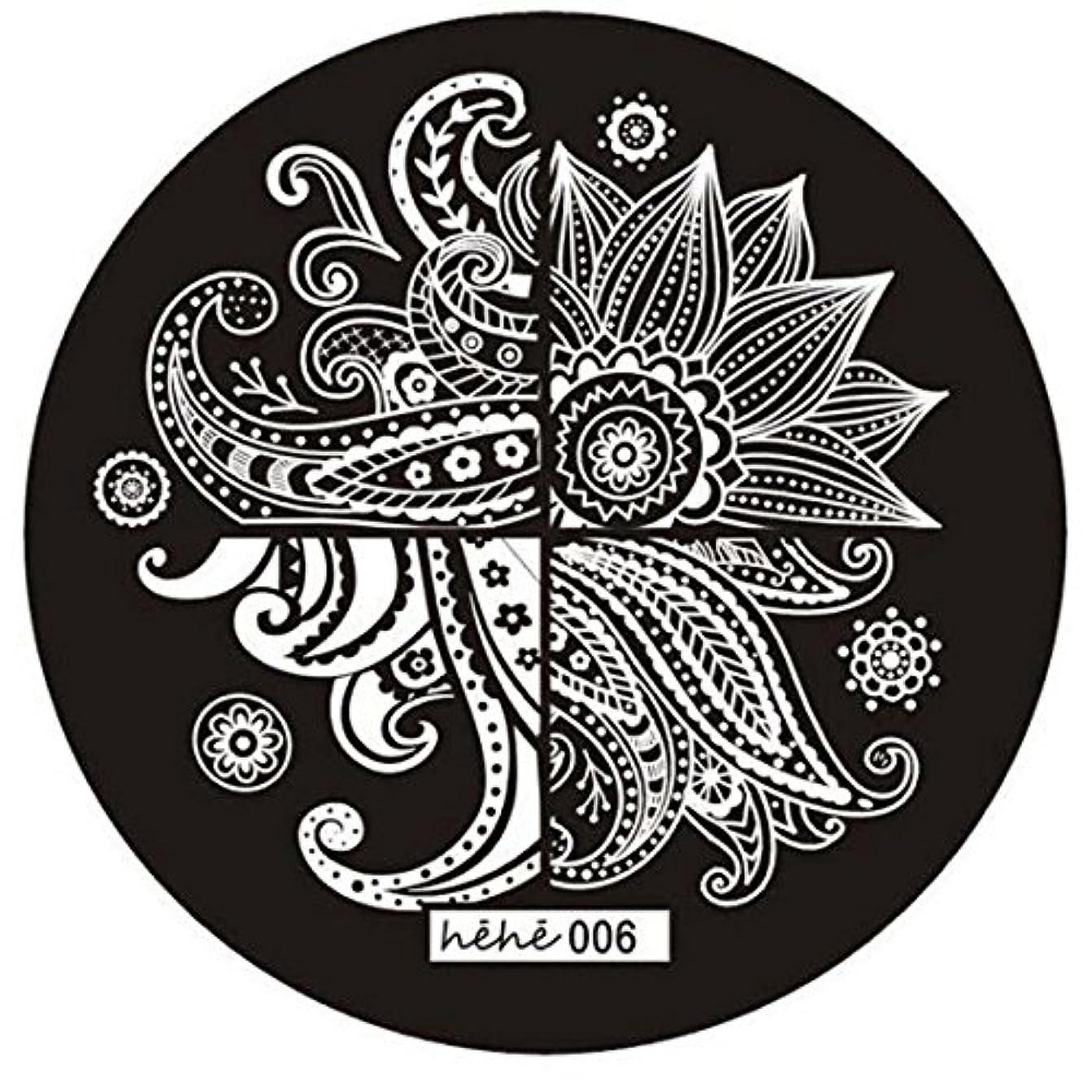 ダウン異形一般化するSODIAL 女の子のネイルアートパターンのイメージスタンプ プレートテンプレートマニキュア006