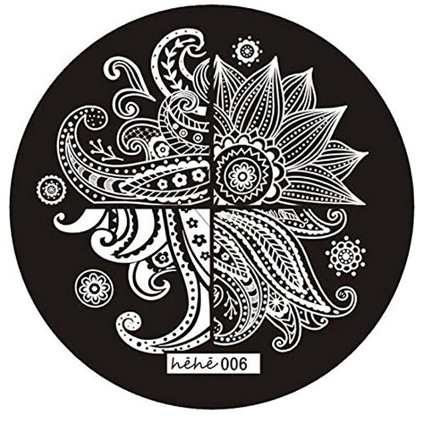 傾向がありますマングル短くするACAMPTAR 女の子のネイルアートパターンのイメージスタンプ プレートテンプレートマニキュア006