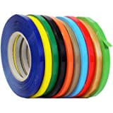 WOD UPVC-24BS Rainbow Produce Poly Bag Sealing Tape (Also & Colors): 3/8 in. x 180 yds. (Pack of 8)