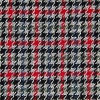 ウール【16100】【柄物】【ウール生地】カラー全5色【50cm単位 切り売り】【チェックツイード】 188 グレー/レッド