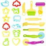 20個ねんどのお道具セット ねんどツール 子ども用 幼児 ランダム色 子ども達がねんどを楽しむことが出来ます ねんど おもちゃ 粘土 道具 かわいい