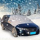 車用 凍結防止シート 厚手 フロントガラスカバー 雪対策 黄砂 粉じん 落葉対策 簡単設置 収納袋付 SUV対応可能 サイドミラーもしっかりカバー 223×183×156cm