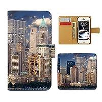 (ティアラ) Tiara Xperia XZs SO-03J スマホケース 手帳型 USA 手帳ケース カバー アメリカ ニューヨーク ロス ビル F0272010094505