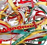 Luxbon -リボンセット 約2メートルX10種類 幅9mm~16mm クリスマス 元日 新年 プレゼント包装 装飾 飾り付け デザイン ハンドメイド 手芸材料 ヘアアクセサリ 工芸品 クリスマス限定 20M(10X2M)