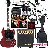 Maison メイソン エレキギター SGタイプ サクラ楽器オリジナル SG-28/CH 初心者入門20点セット
