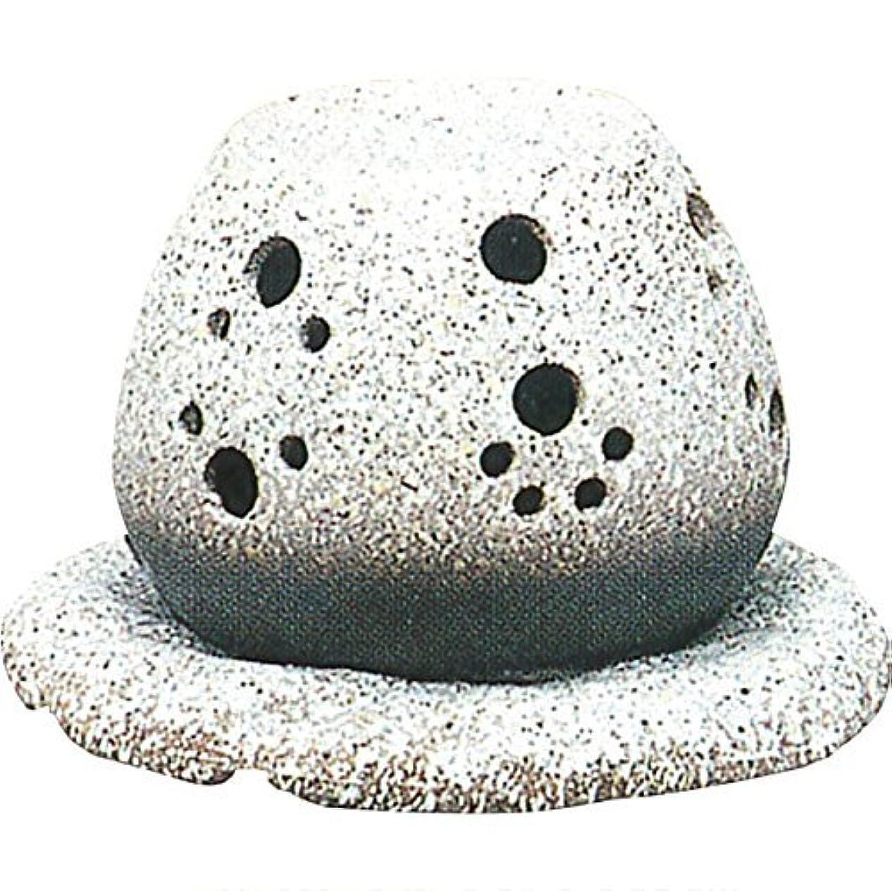 過言クロスケント常滑焼 ?40-05 茶香炉山房窯  白皿付    14.5×15.5×10