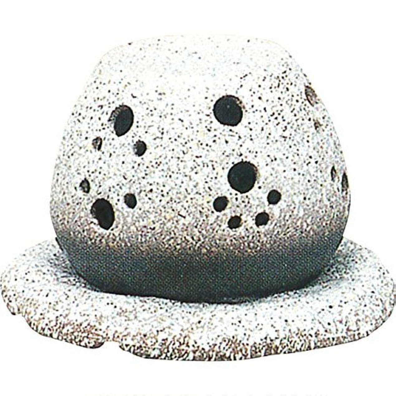 文言有利信条常滑焼 ?40-05 茶香炉山房窯  白皿付    14.5×15.5×10