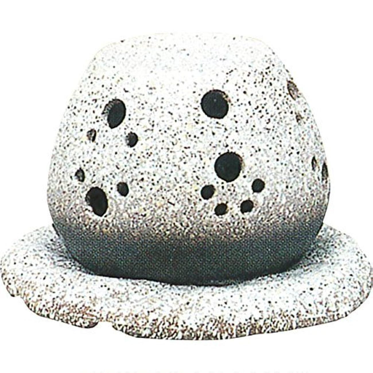 キャリア控えるインク常滑焼 ?40-05 茶香炉山房窯  白皿付    14.5×15.5×10