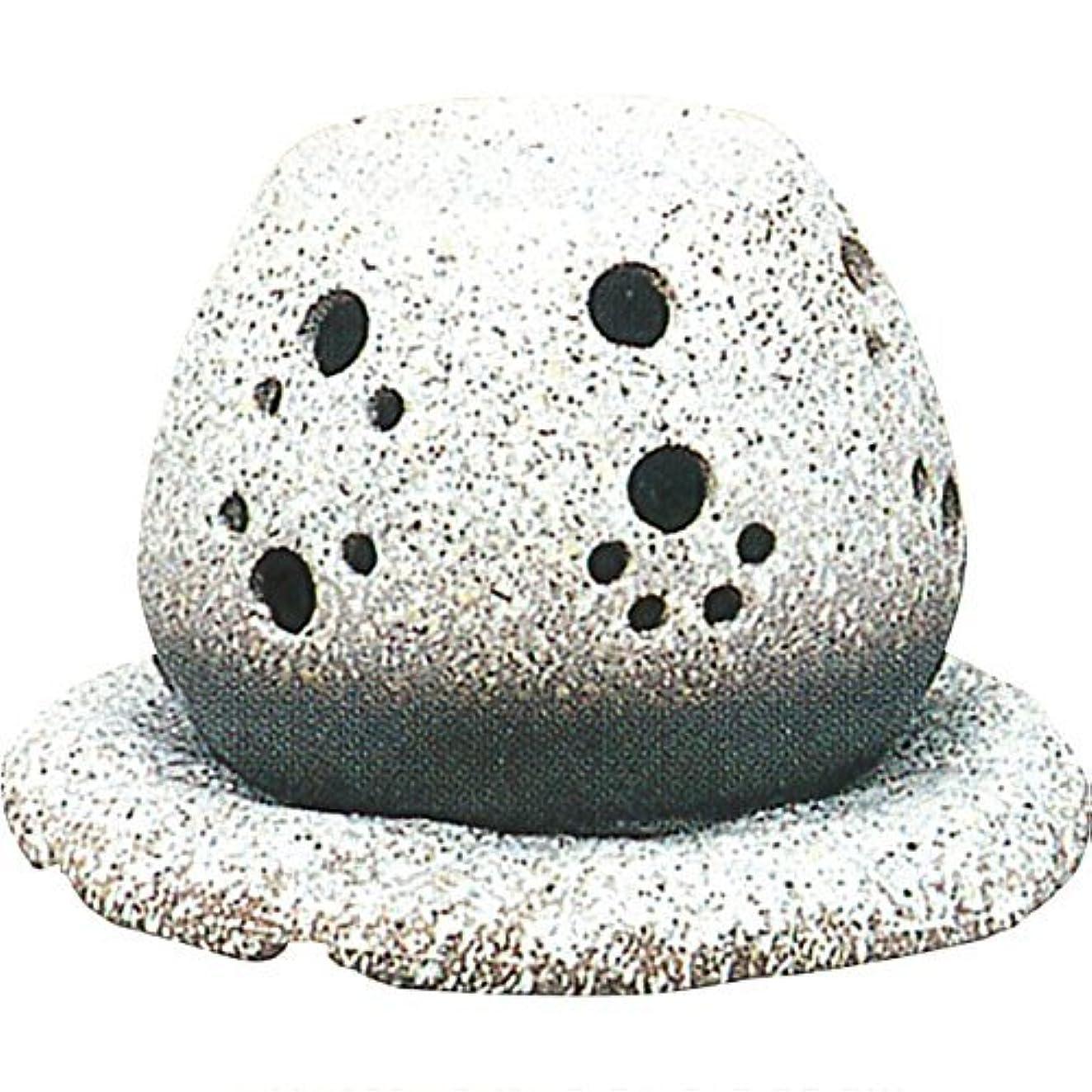 伝える民間日付常滑焼 ?40-05 茶香炉山房窯  白皿付    14.5×15.5×10