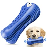 Dog Chew Toys for Aggressive Chewers Large Breed,RexSoul Rubber Dog Toothbrush & Squeaky Chew Toys,Reduces Plaque & Tartar Te