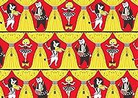【ant!ant!!ant!!!】 おしゃれ紙 「サーカス団」 A4 5枚入 ライオンとクマと女の子のサーカス団