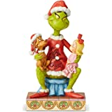 Enesco Dr. Seuss The Grinch by Jim Shore Cindy and Max Figurine, 7.09 Inch, Multicolor