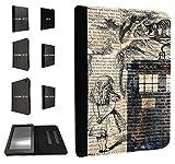 430 - Alice in wonderland Doctor Who Tardis Call Box For Amazon 2015_08/kindle Fire HD 7'' 2012 1st Generation レザー手帳型ケース ダイアリト スタンド 財布型