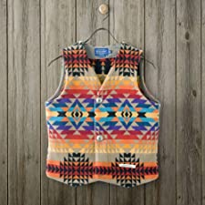 Pendleton Jacquard Vest DK483: Tan Pagosa Springs