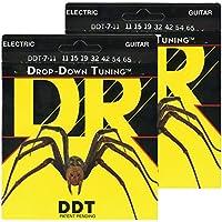 DR エレキ弦 7弦 DROP-DOWN TUNING ニッケルメッキ .011-.065 DDT7-11 2SETパック