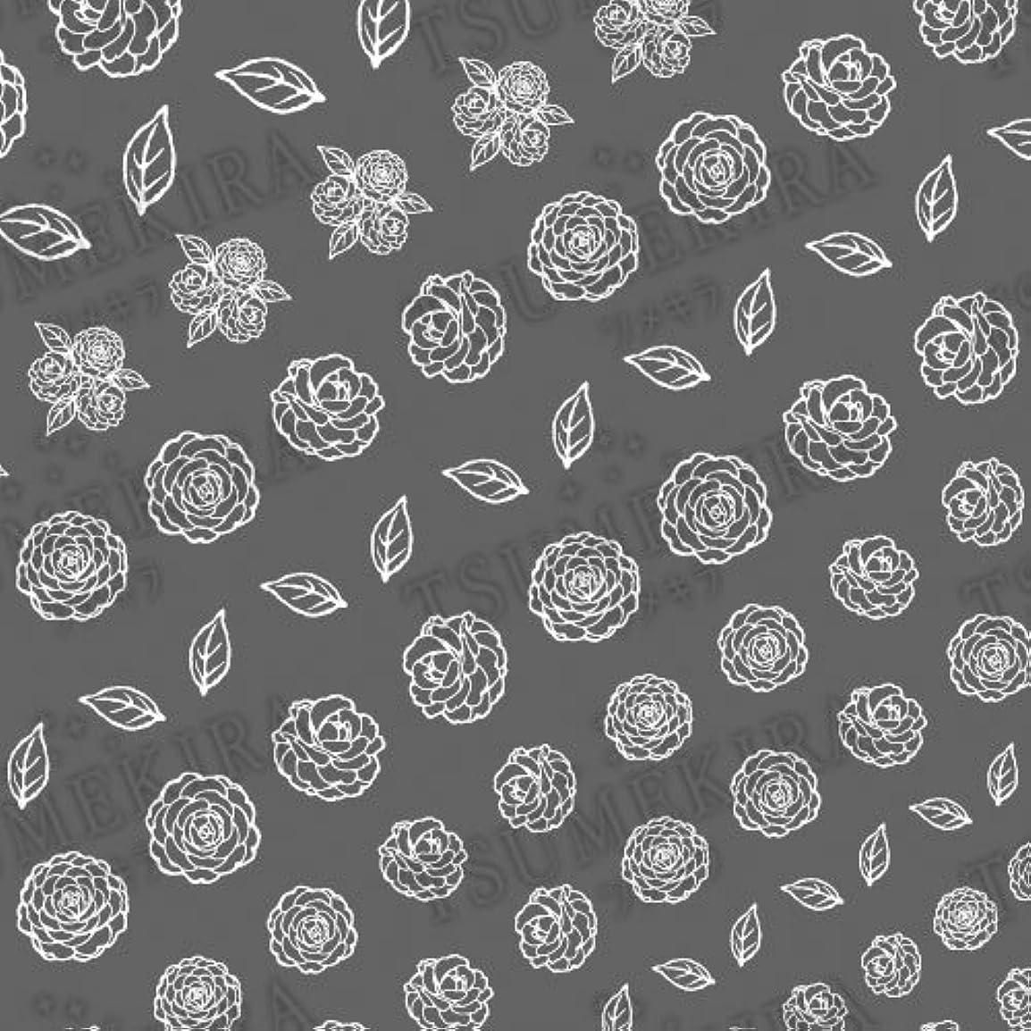 アーサードリンククレーンツメキラ ネイル用シール フラワースタイル カメリア ホワイト