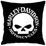 Lovesofun Soft Decorative Square Throw Pillow Covers Harley David-Son Cushion Cases Pillowcases for Sofa Bedroom Car 18 X 18