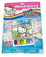 Savvi Hello Kitty Funキット~ 16Largeマジックペイントポスターステッカー、25、50Tattoos、ペイントブラシ(ペイントFun )