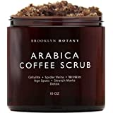 Arabica Coffee Scrub -100% Natural - with Coconut and Shea Butter - Best Acne, Anti Cellulite and Stretch Mark treatment, Spi
