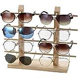 Reekey眼鏡スタンド メガネ サングラス スタンド ディスプレイ 業務用 眼鏡置き 掛け メガネ 収納 木製 コレクション タワー 8本用