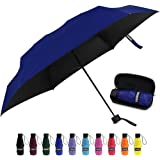 Yoobure Small Mini Umbrella with Case Light Compact Design Perfect for Travel Lightweight Portable Parasol Outdoor Sun&Rain U