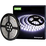 LE 12V LED Strip Light, Flexible, Waterproof, SMD 2835, 16.4ft Tape Light for Christmas, Home, Kitchen and More, Daylight Whi