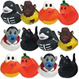 ArtCreativity 2.5 Inch Assorted Halloween Rubber Duckies for Kids, Pack of 12, Variety of Halloween Characters, Trick or Trea