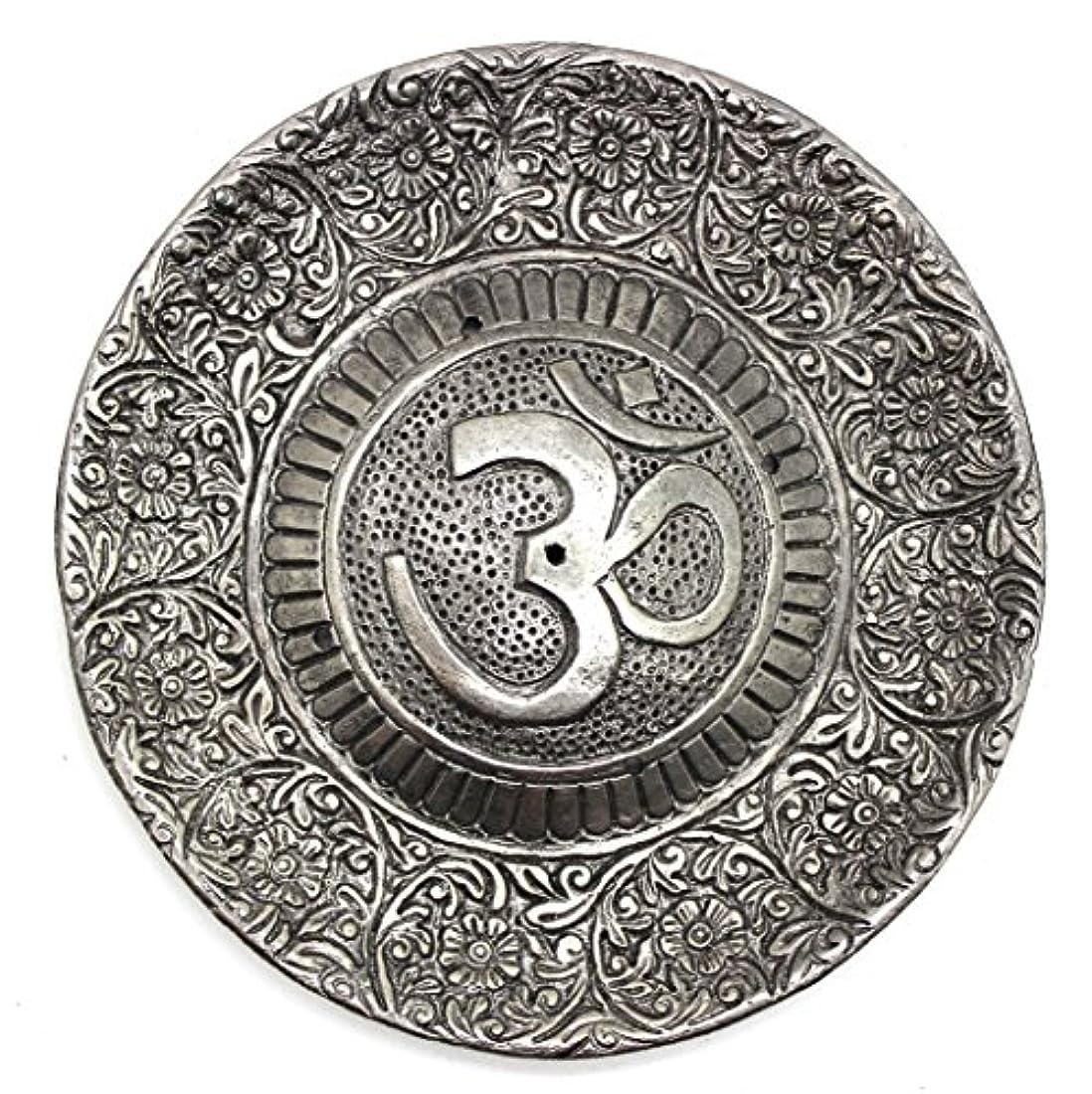有限敷居リングレットGovinda - Tibetan Incense Burner - Larger OM Symbol - 11cm Diameter